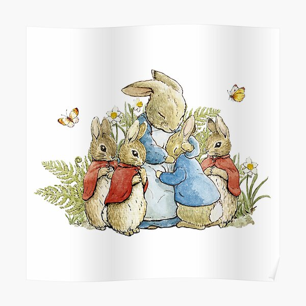 Peter Rabbit With His Family - Beatrix Potter Poster
