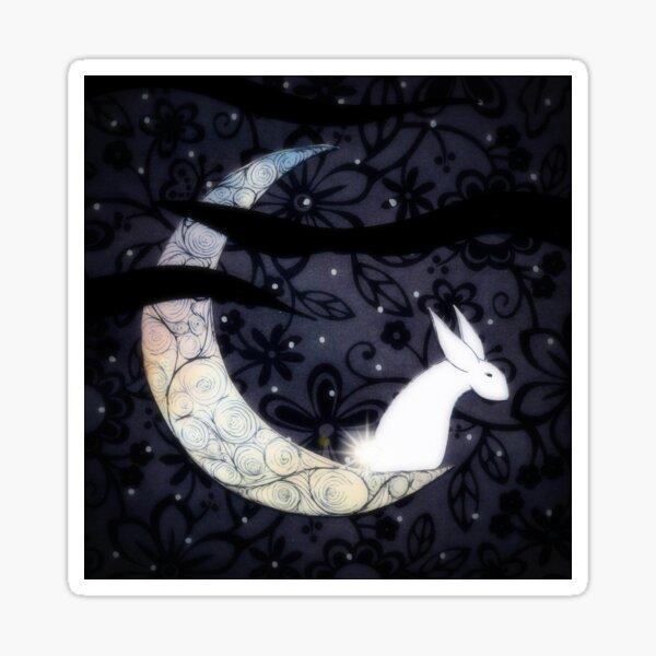 Bunny on Moon Sticker