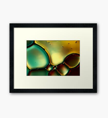 Oil & Water Abstract I Framed Print