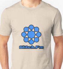 Glitch.Fm Logo - Blue Unisex T-Shirt