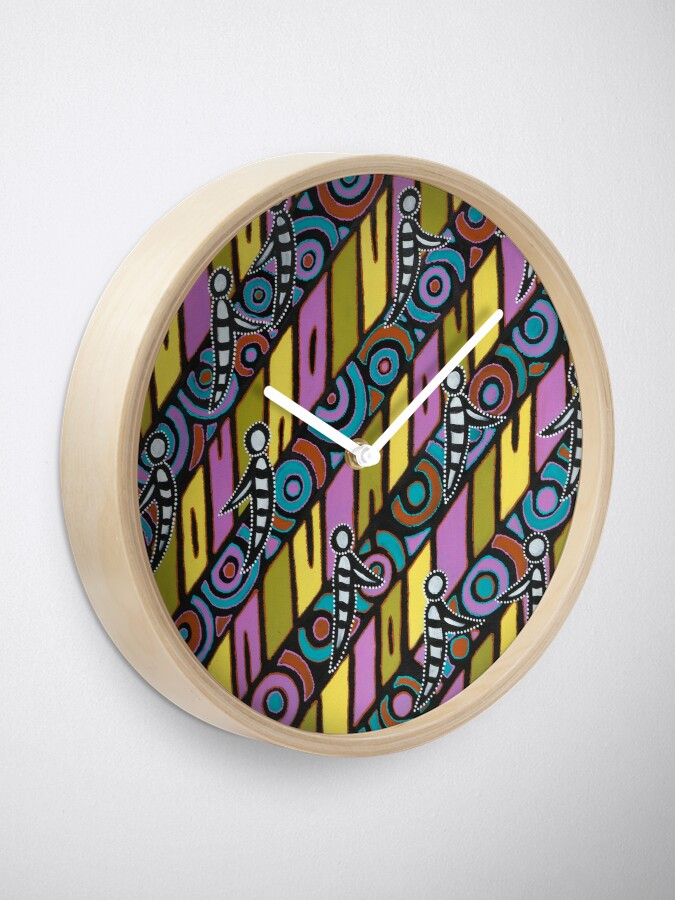 Alternate view of I am (White Cockatoo Dreaming) Clock