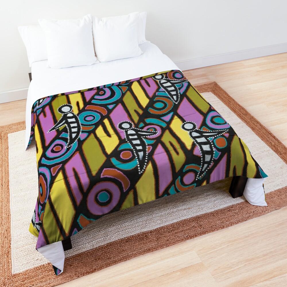 I am (White Cockatoo Dreaming) Comforter