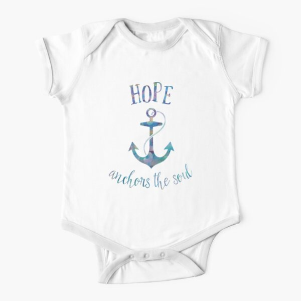 Hope Anchors The Soul Cotton Short Sleeve T Shirts for Baby Toddler Infant