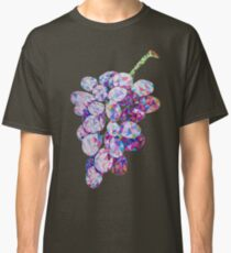 Low Poly Watercolor Grapes Classic T-Shirt