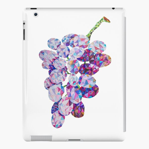 Low Poly Watercolor Grapes iPad Snap Case