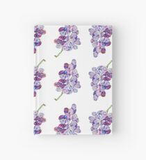 Low Poly Watercolor Grapes Hardcover Journal