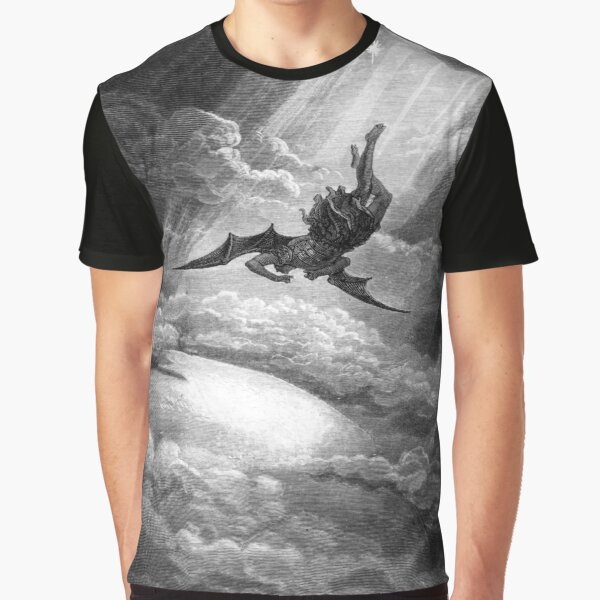 The Fall of Satan - Gustave Dore Graphic T-Shirt