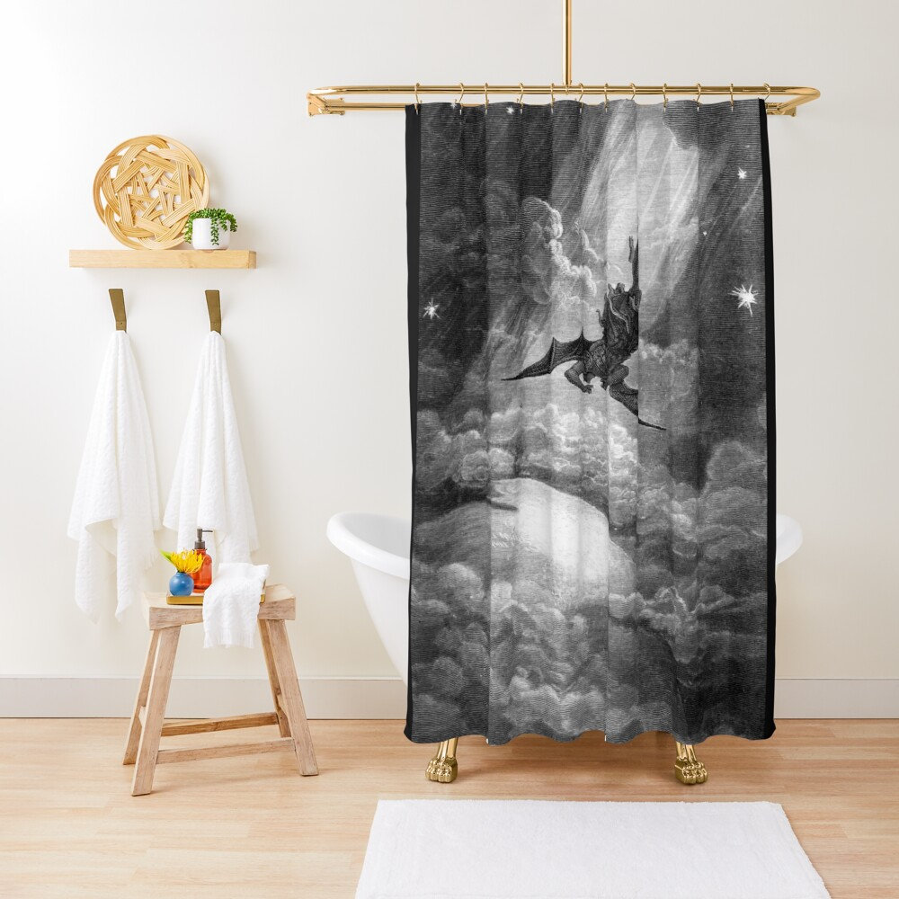 The Fall of Satan - Gustave Dore Shower Curtain