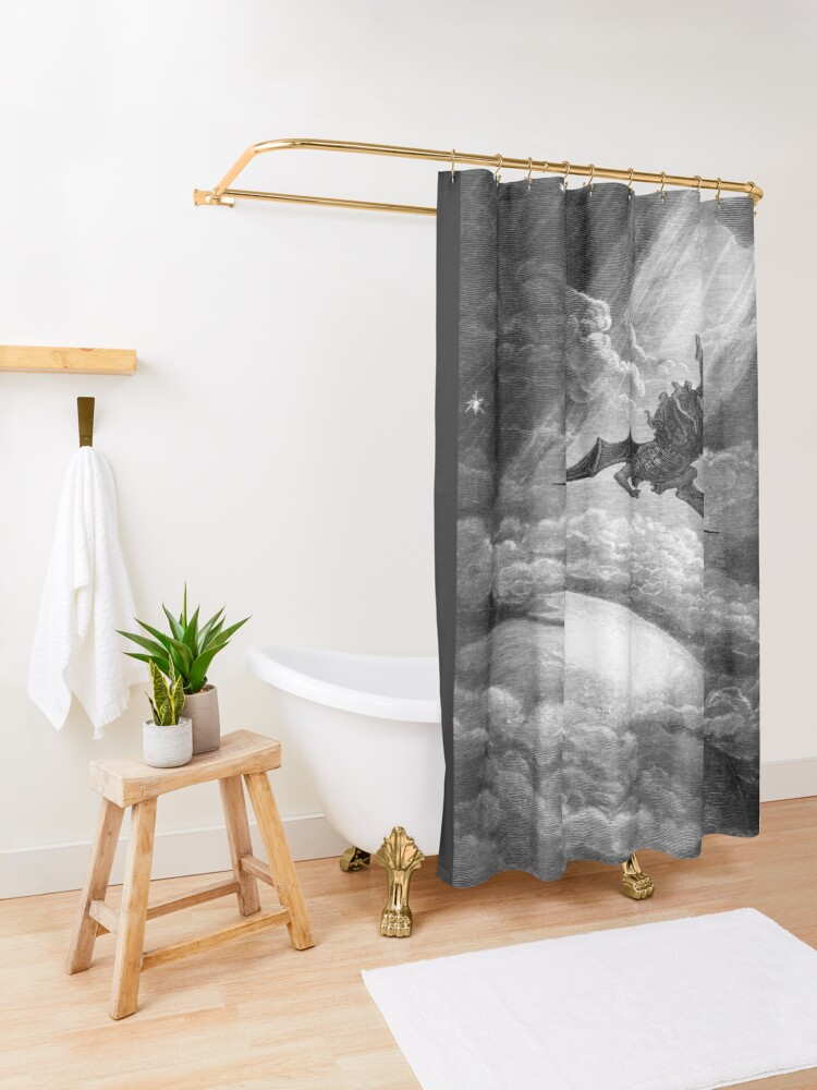 Alternate view of The Fall of Satan - Gustave Dore Shower Curtain