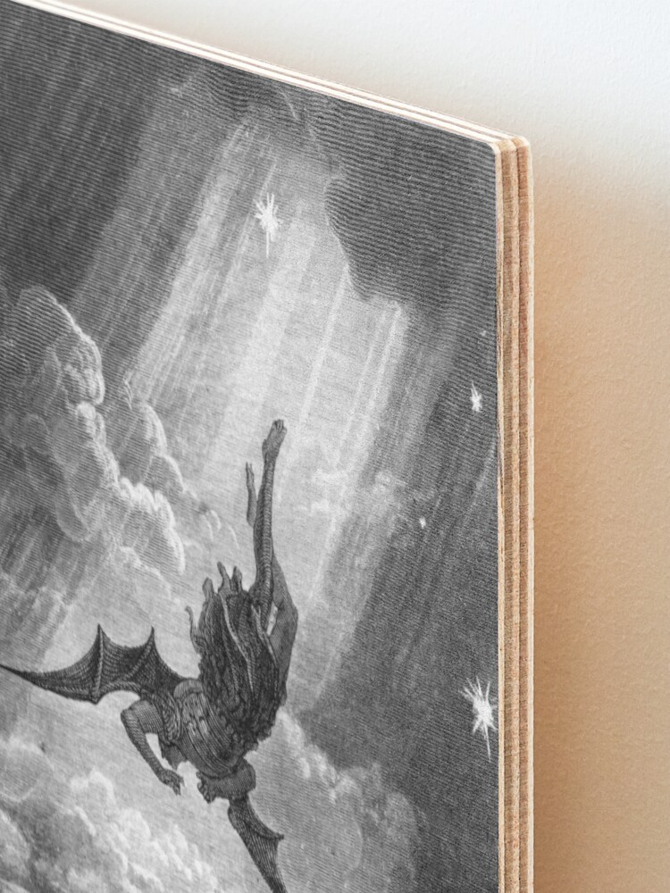 Alternate view of The Fall of Satan - Gustave Dore Mounted Print