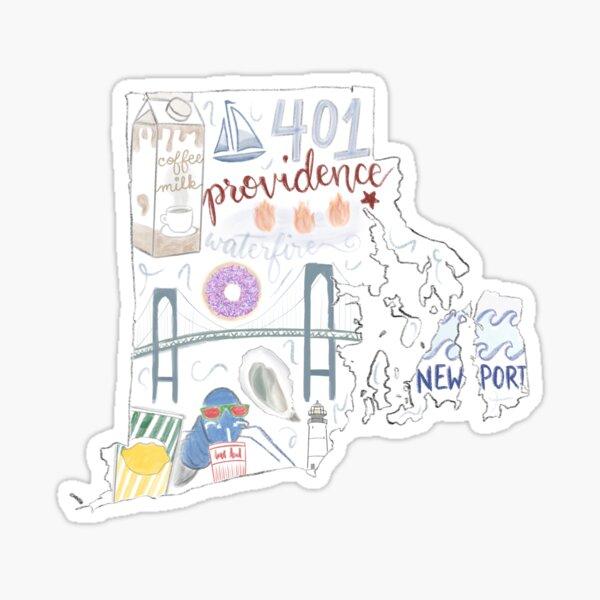 Rhode Island State Icons Sticker