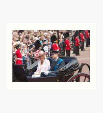 Prince William with Camilla Art Print