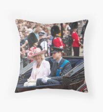 Prince William with Camilla Throw Pillow