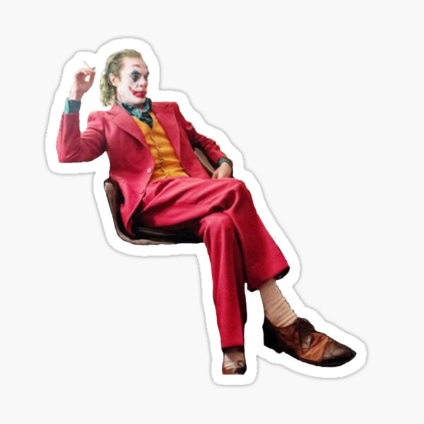 Joker sitting Sticker