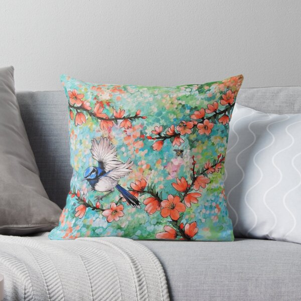 Colours of the Garden Throw Pillow