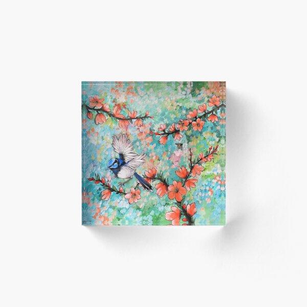 Colours of the Garden Acrylic Block
