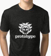 Protohype Logo - White Tri-blend T-Shirt