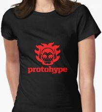Protohype Logo - Red Women's Fitted T-Shirt