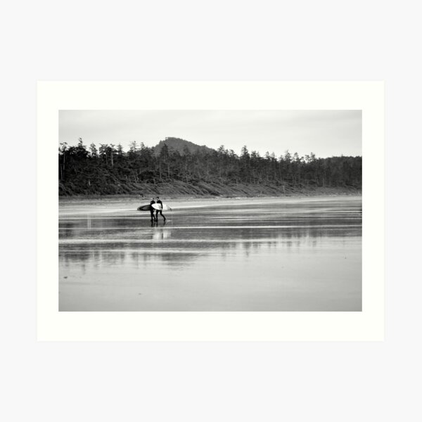 A long days surf Art Print
