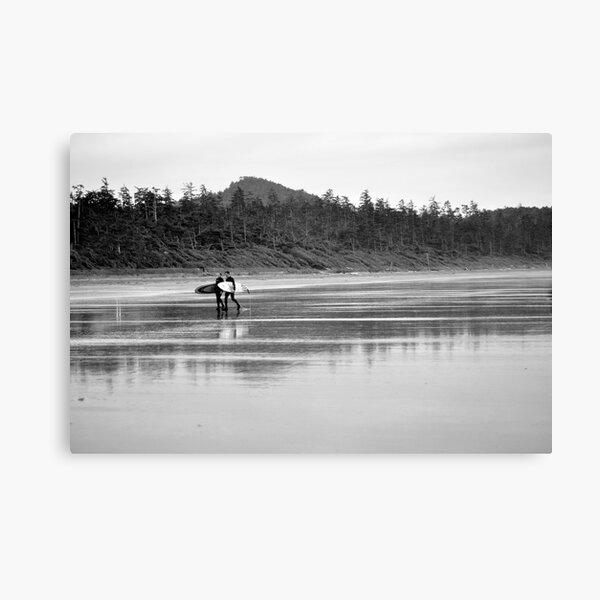 A long days surf Canvas Print
