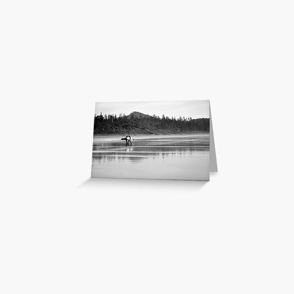 A long days surf Greeting Card