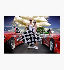 Oh Yes The Checkered Flag Photographic Print