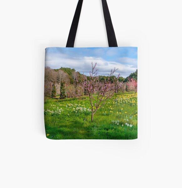 Daffodils & Fruit Orchard All Over Print Tote Bag
