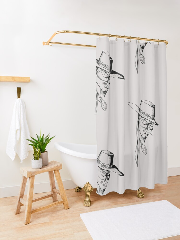 Alternate view of The Fox Shower Curtain