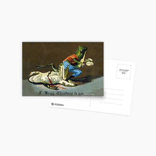 Macabre Victorian Christmas Greetings - Criminal Frogs Postcard