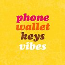 phone wallet keys VIBES by lolosenese