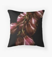 Midnight Orchid Throw Pillow