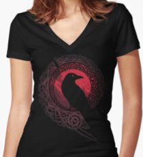 EDDA Women's Fitted V-Neck T-Shirt