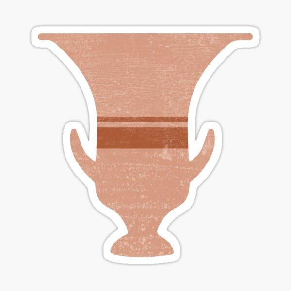 Minimal Abstract Greek Vase 13 - Calyx Krater - Terracotta Series - Modern, Contemporary Print Sticker