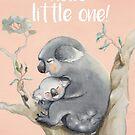 Koala Love Pink by Sarah  Mac Illustration