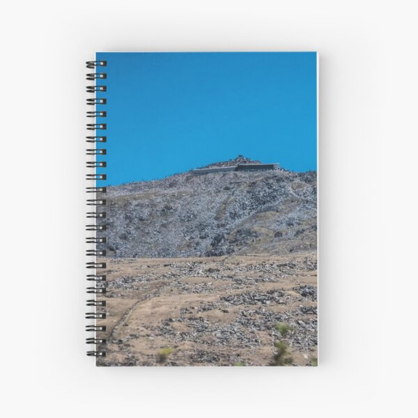 Mount Snowdon in Blue  Spiral Notebook