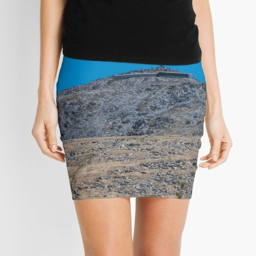 Mount Snowdon in Blue  Mini Skirt