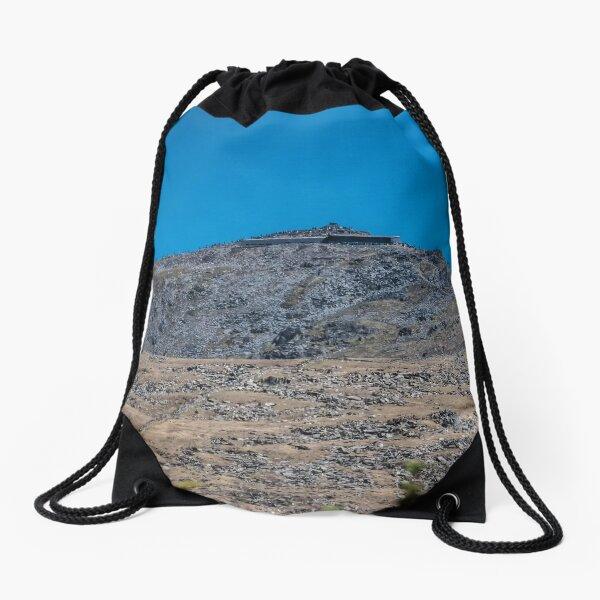 Mount Snowdon in Blue  Drawstring Bag
