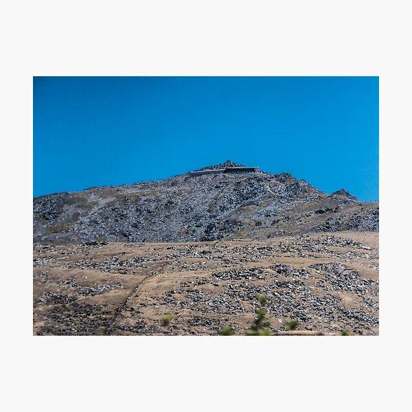 Mount Snowdon in Blue  Photographic Print
