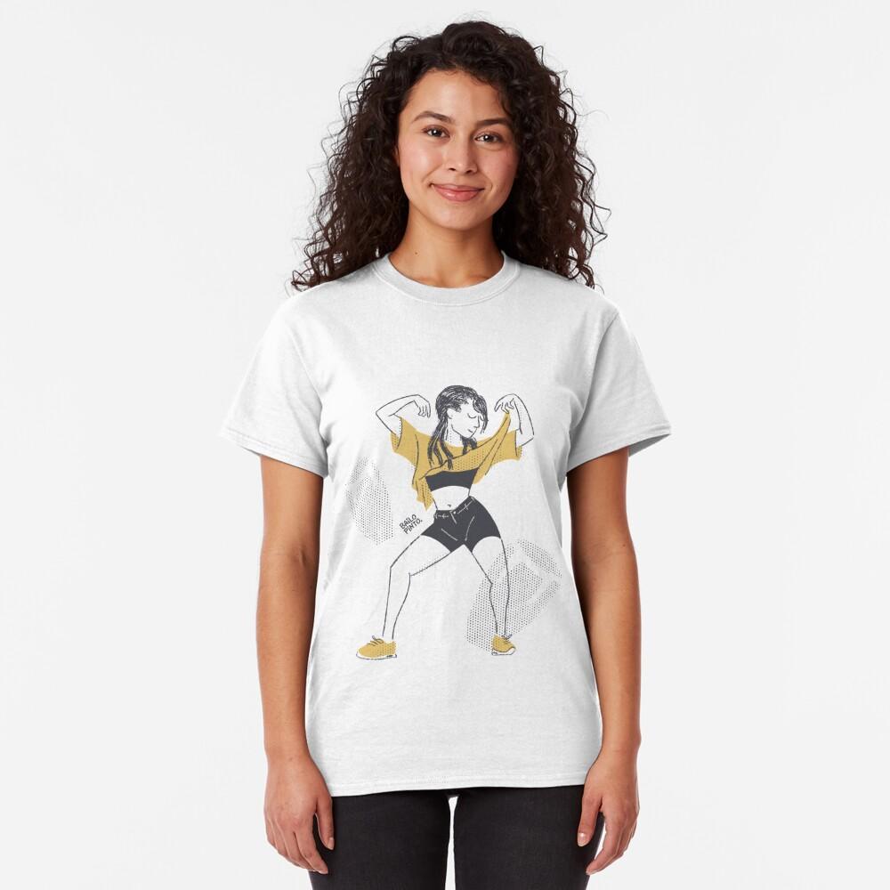 Chica bailando Camiseta clásica