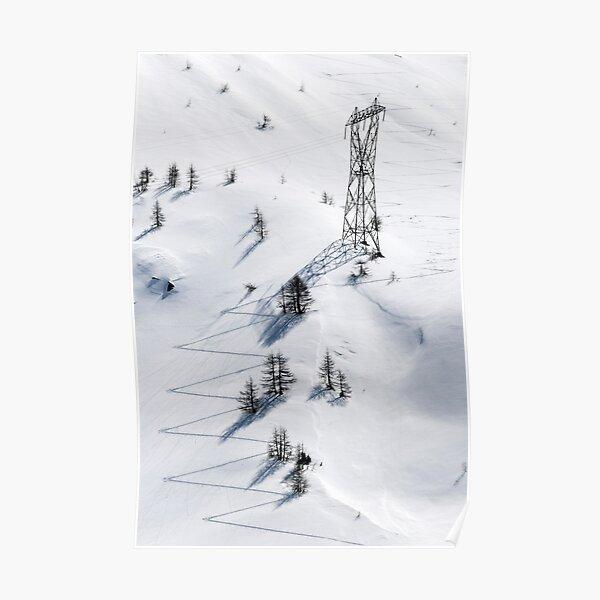 Man and Nature, Simplon Pass, Switzerland Poster