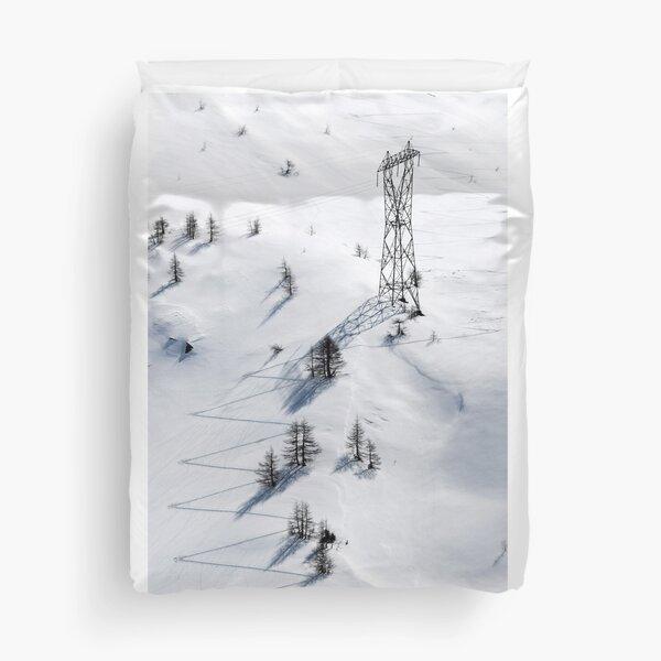 Man and Nature, Simplon Pass, Switzerland Duvet Cover