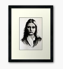 Cara, charcoal sketch Framed Print