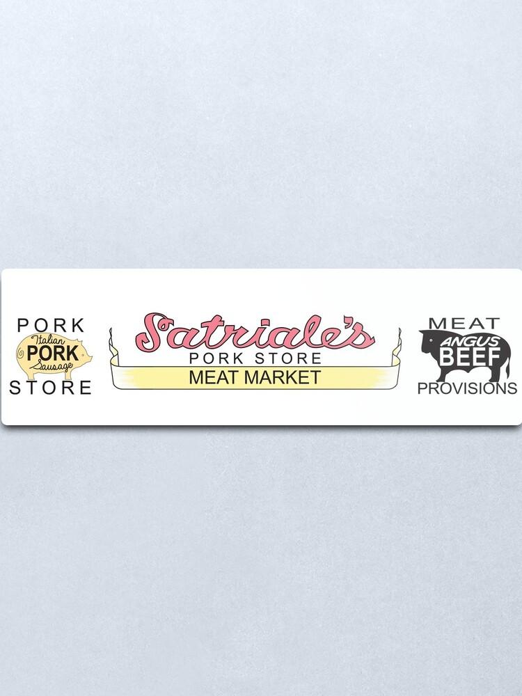 Alternate view of Satriales - Meat Market Mugs Metal Print