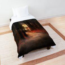 dream a little longer Comforter