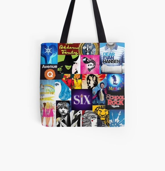 Musical Collage All Over Print Tote Bag