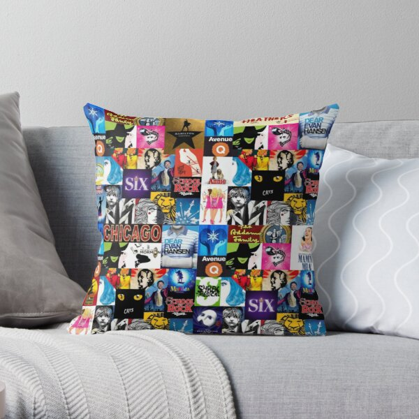 Musical Collage Throw Pillow
