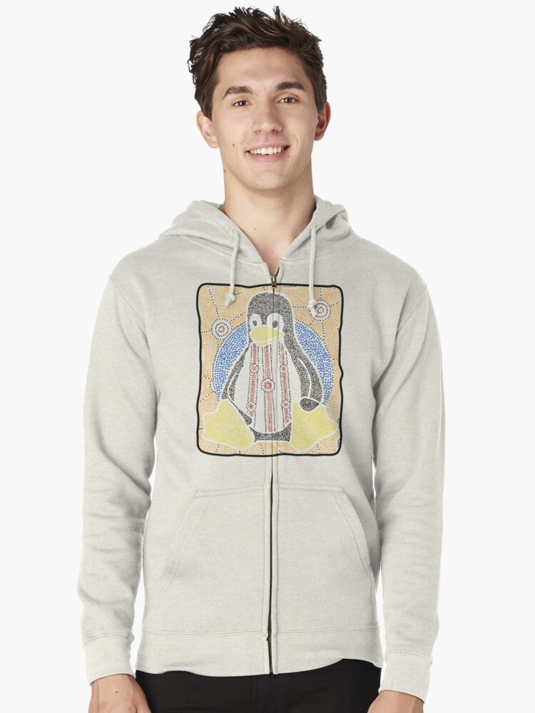 Tux Zipped Hoodie Front