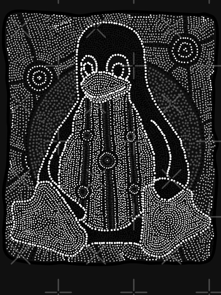 Tux (Monochrome) by linuxaustralia