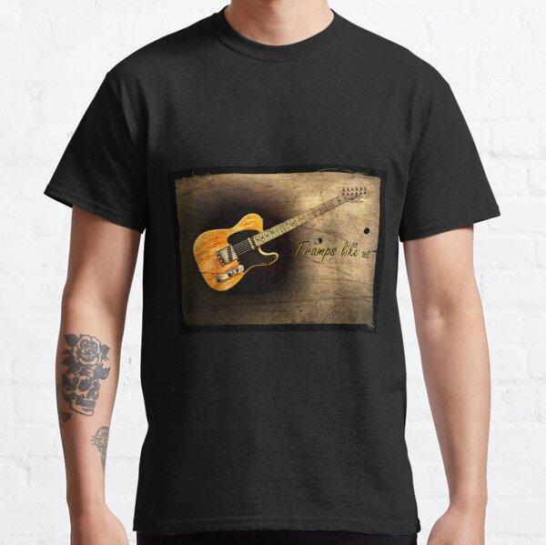 Guitar Portrait. Tramps Like Us. WallsOfFame Classic T-Shirt