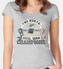 The North - Civil War Champions - Notherner Pride - Union Pride - Anti-Confederate Funny Shirt Women's Fitted Scoop T-Shirt